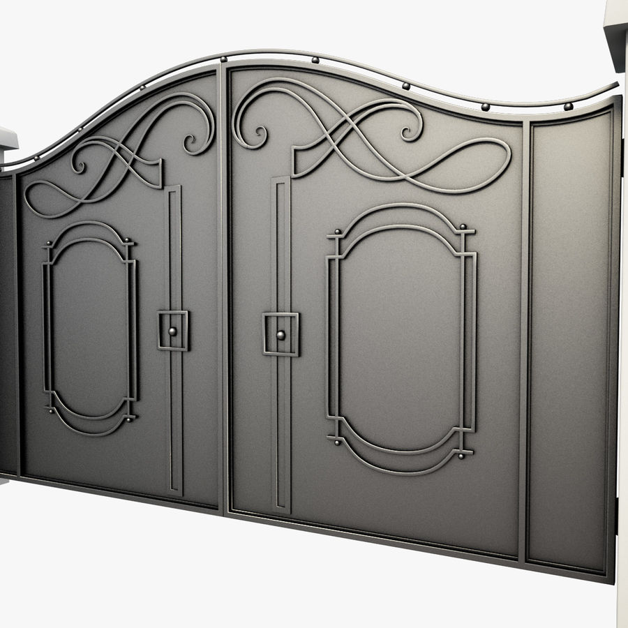 Wrought Iron Gate 7 royalty-free 3d model - Preview no. 3