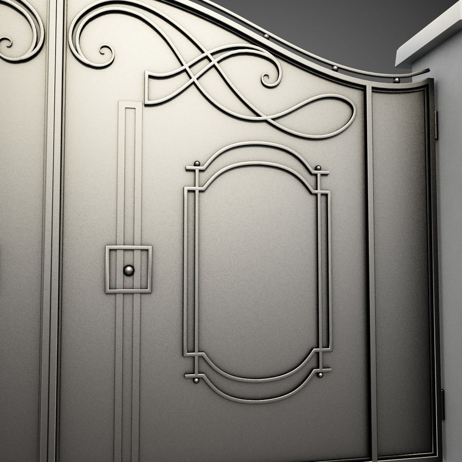 Wrought Iron Gate 7 royalty-free 3d model - Preview no. 4