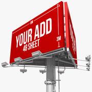 Billboard 48 Sheet Triangle 3d model