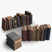 36 Realistic Old Books 3d model