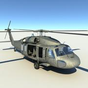 UH60 Blackhawk (poli médio) 3d model