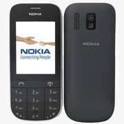Nokia Asha 202 Grijs 3d model