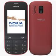 Nokia Asha 202 Rood 3d model