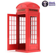 British Red Phone Booth 3d model
