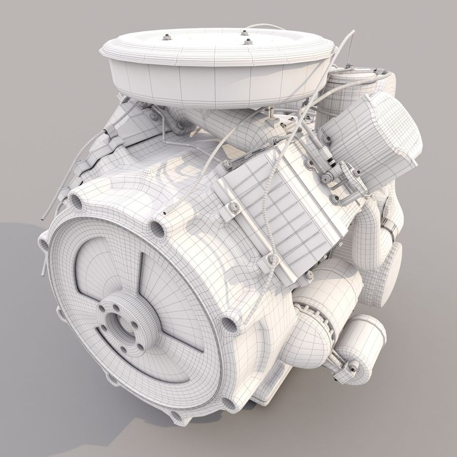 Engine royalty-free 3d model - Preview no. 6
