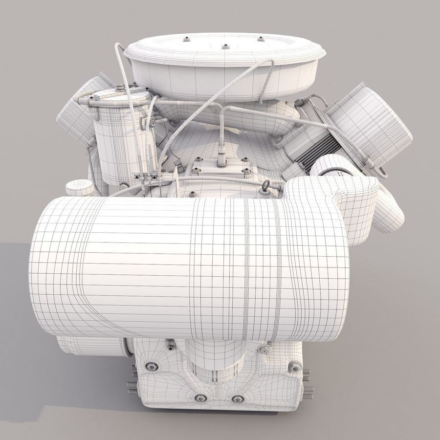 Engine royalty-free 3d model - Preview no. 8