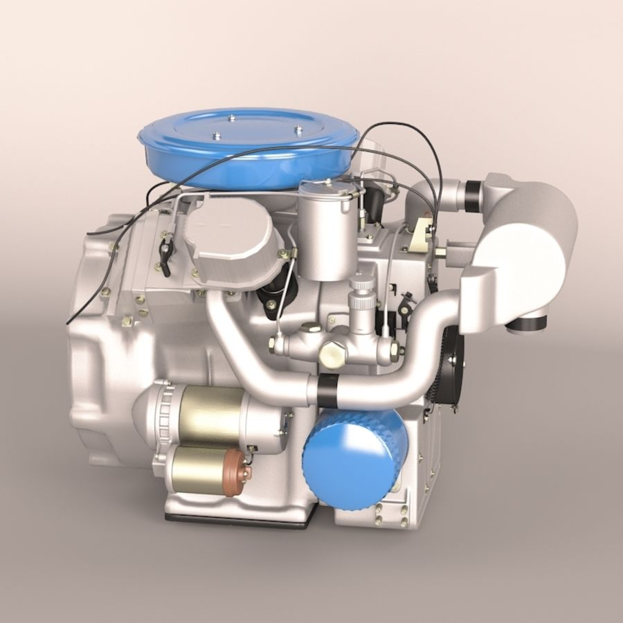 Engine royalty-free 3d model - Preview no. 2