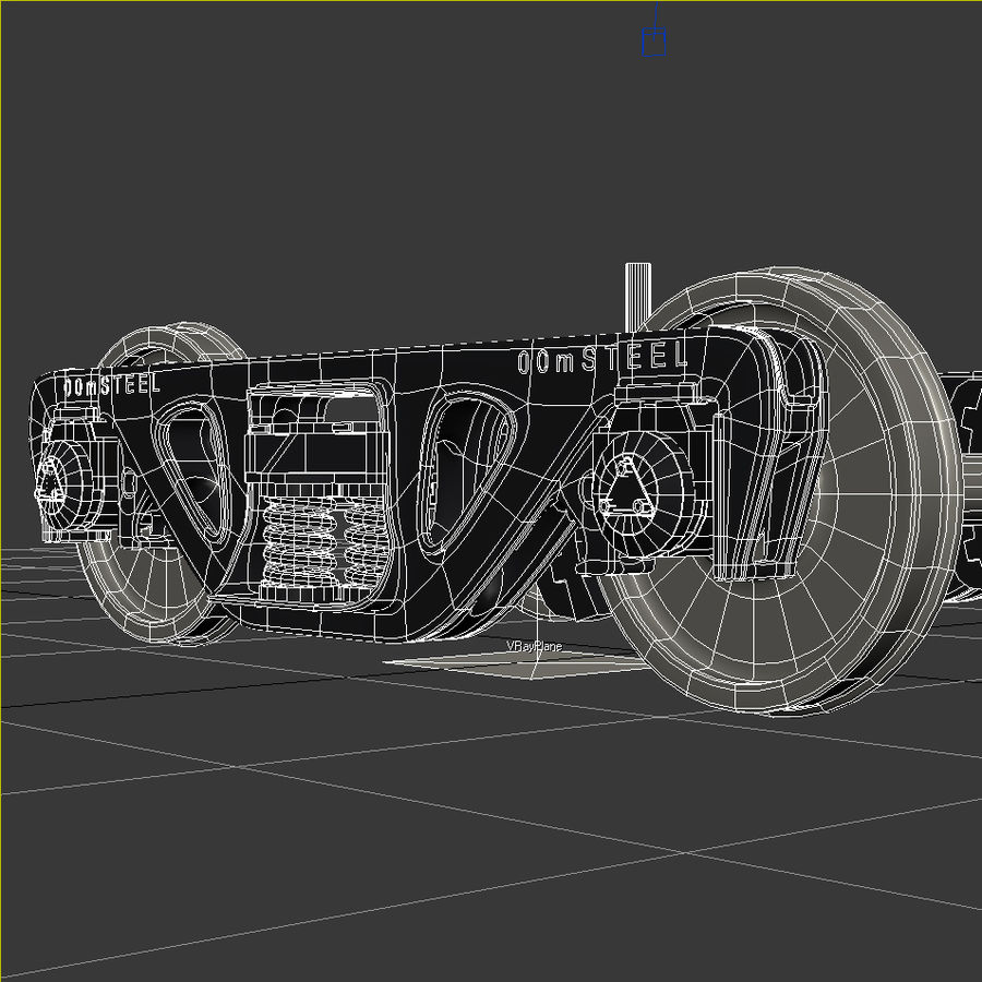 Güterwagen royalty-free 3d model - Preview no. 18