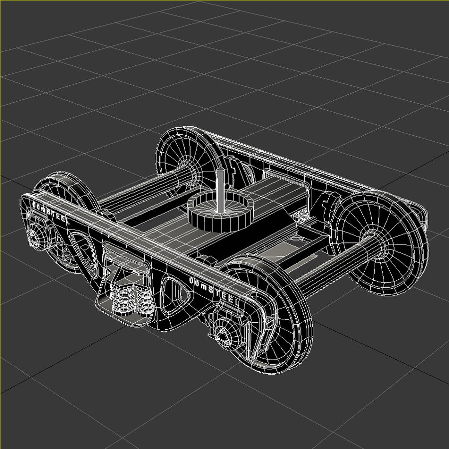 Carro merci royalty-free 3d model - Preview no. 19