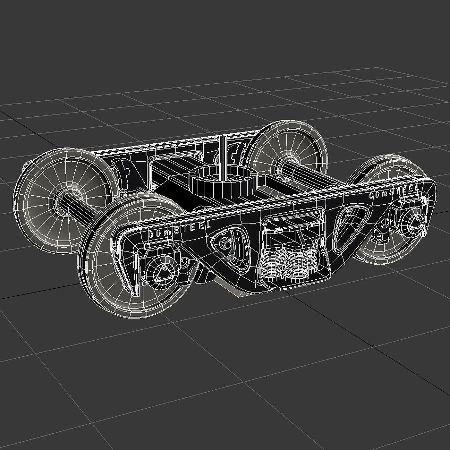 Carro merci royalty-free 3d model - Preview no. 17