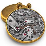 时钟机制 3d model