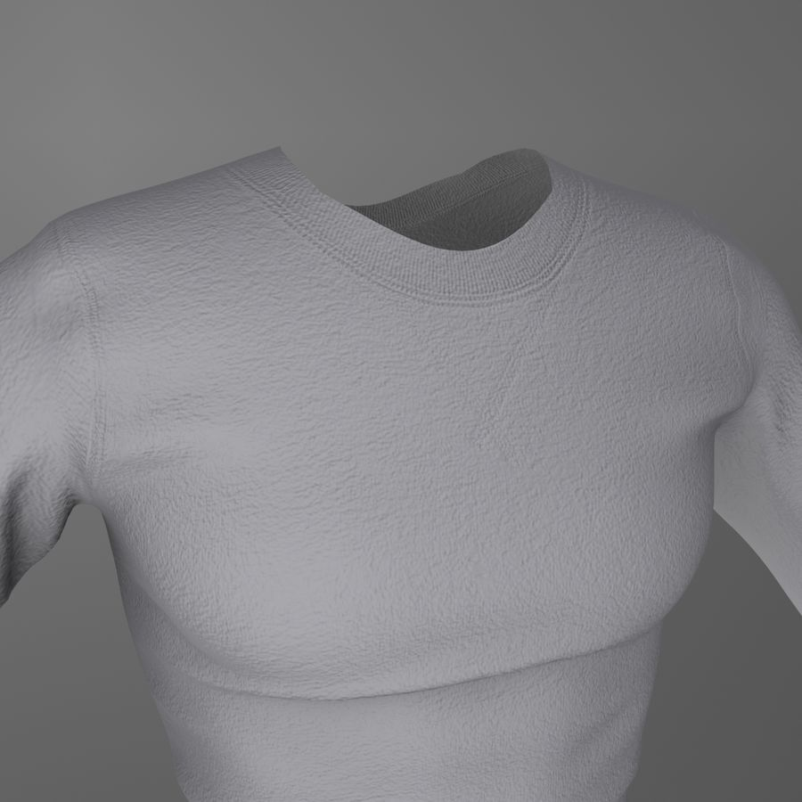 Long Sleeved Shirt royalty-free 3d model - Preview no. 6