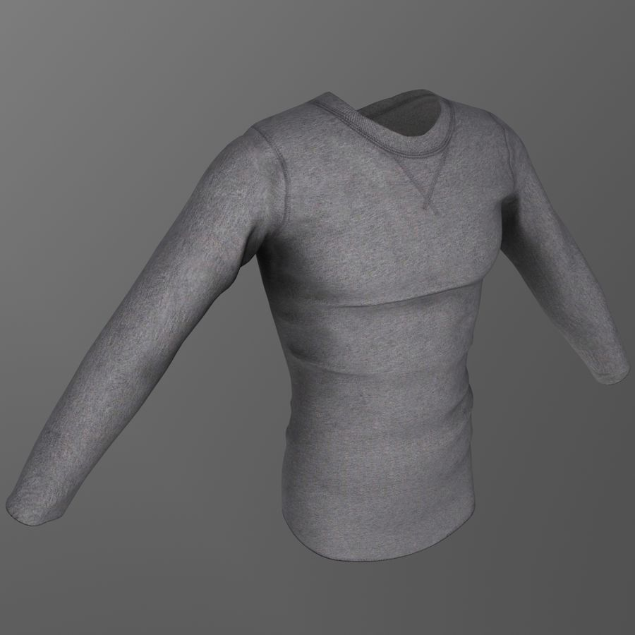 Long Sleeved Shirt royalty-free 3d model - Preview no. 2
