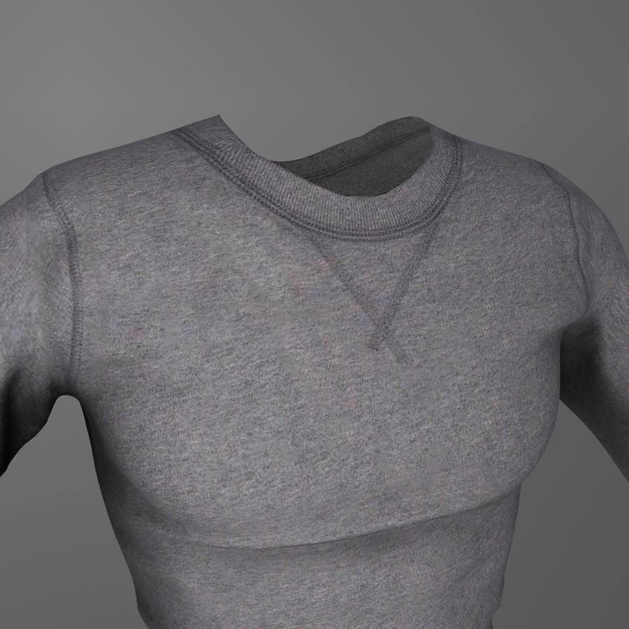 Long Sleeved Shirt royalty-free 3d model - Preview no. 5