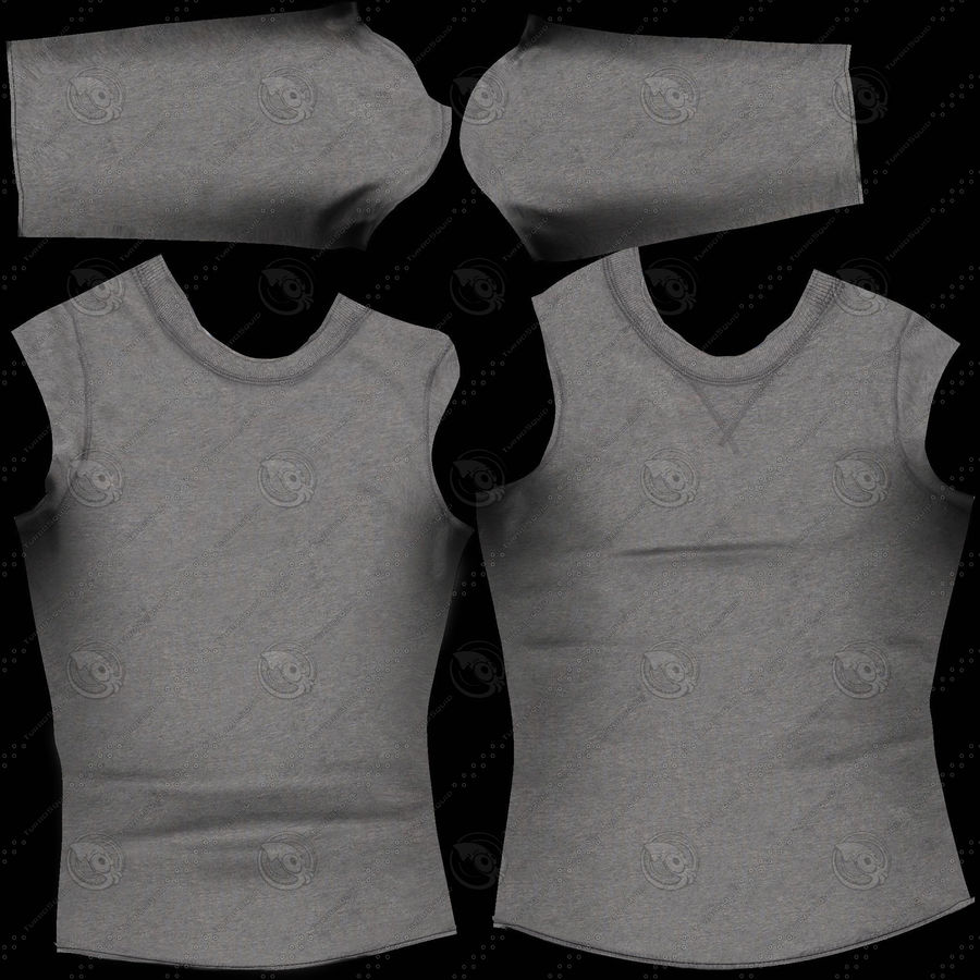 Long Sleeved Shirt royalty-free 3d model - Preview no. 3