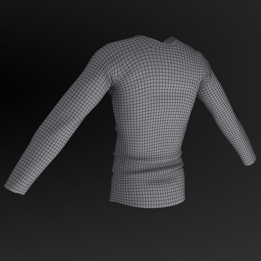 Long Sleeved Shirt royalty-free 3d model - Preview no. 9