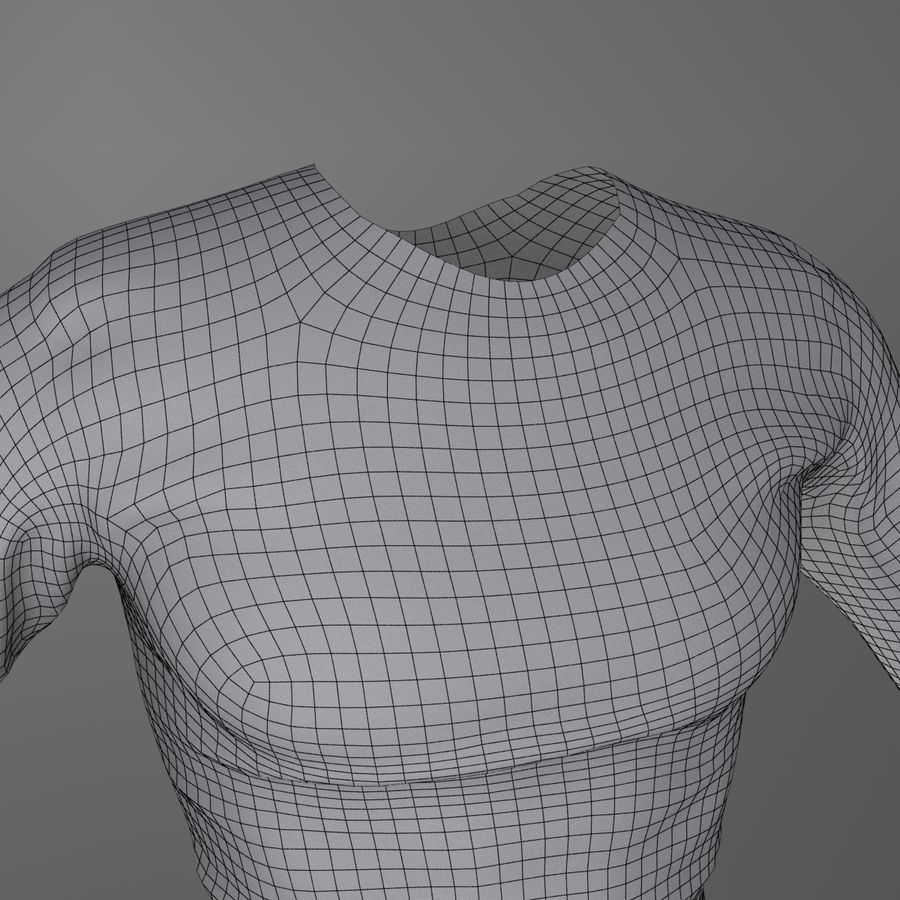 Long Sleeved Shirt royalty-free 3d model - Preview no. 7