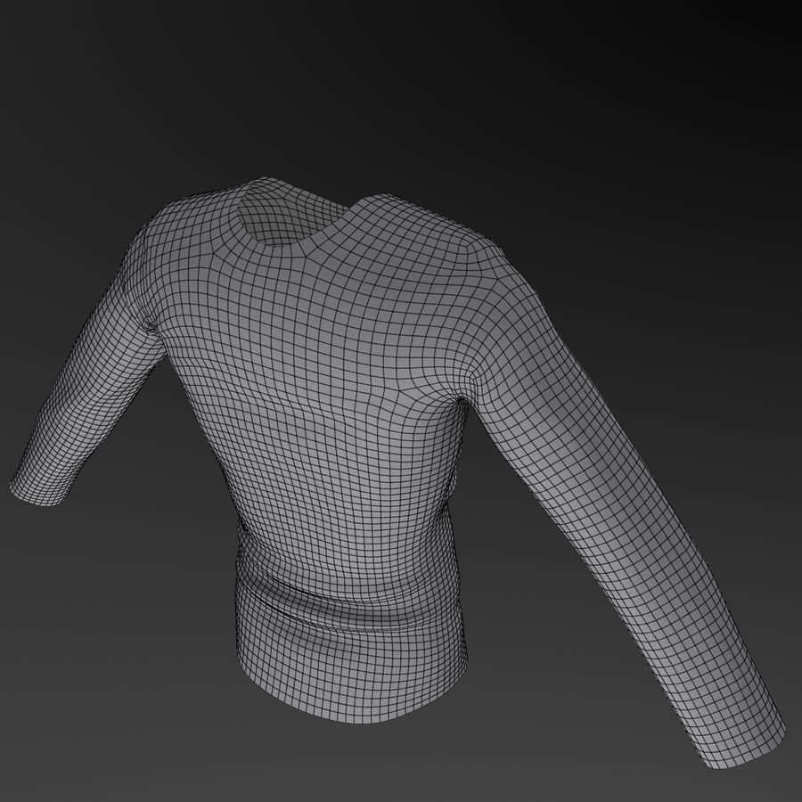 Long Sleeved Shirt royalty-free 3d model - Preview no. 10