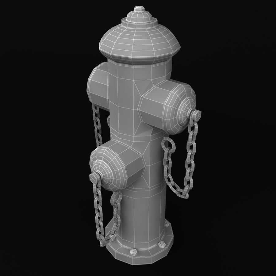 Feuerhydrant royalty-free 3d model - Preview no. 12