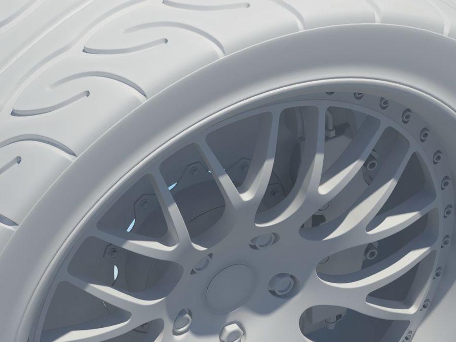 Wheel HRE Yokohama tire Brembo brakes royalty-free 3d model - Preview no. 16