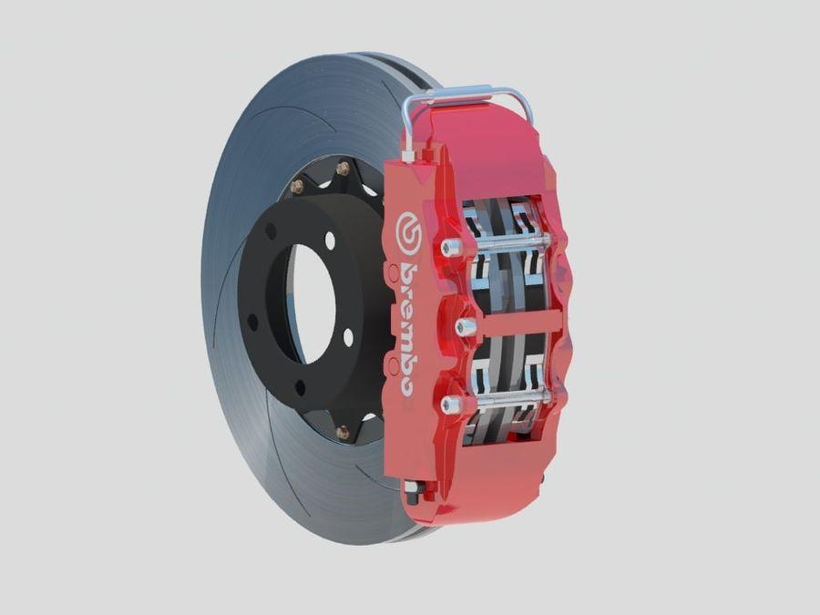 Wheel HRE Yokohama tire Brembo brakes royalty-free 3d model - Preview no. 8