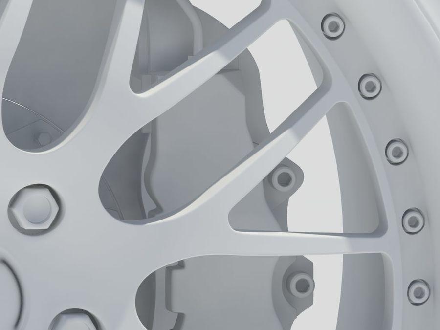Wheel HRE Yokohama tire Brembo brakes royalty-free 3d model - Preview no. 17