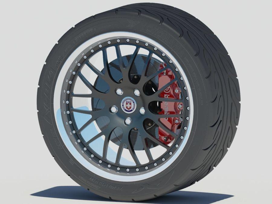 Wheel HRE Yokohama tire Brembo brakes royalty-free 3d model - Preview no. 4