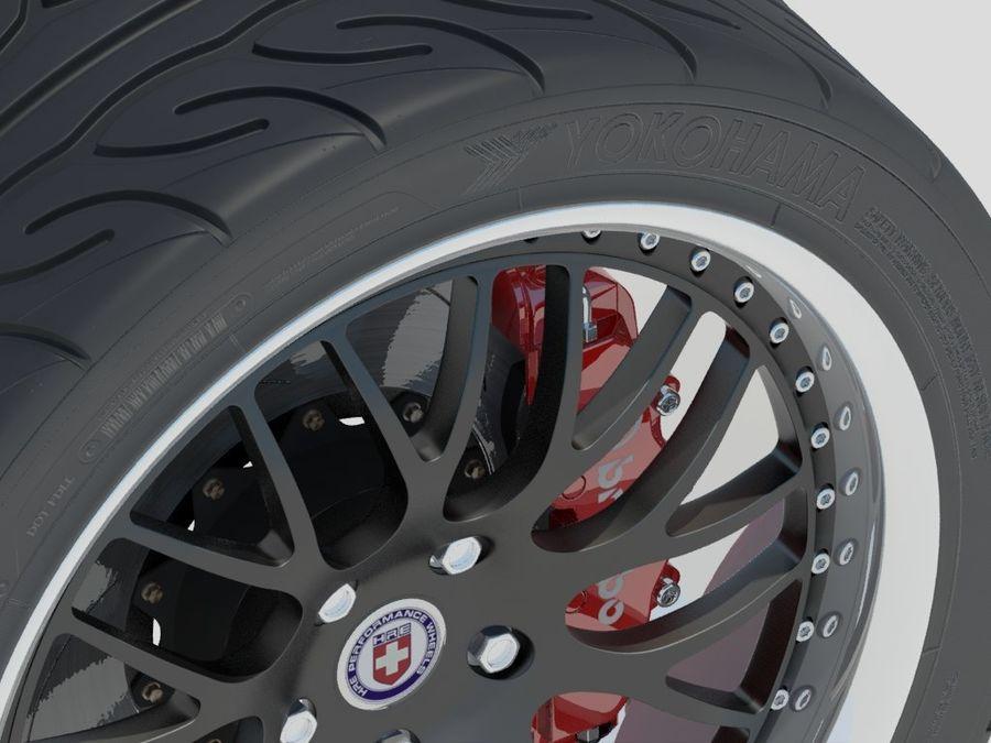 Wheel HRE Yokohama tire Brembo brakes royalty-free 3d model - Preview no. 1