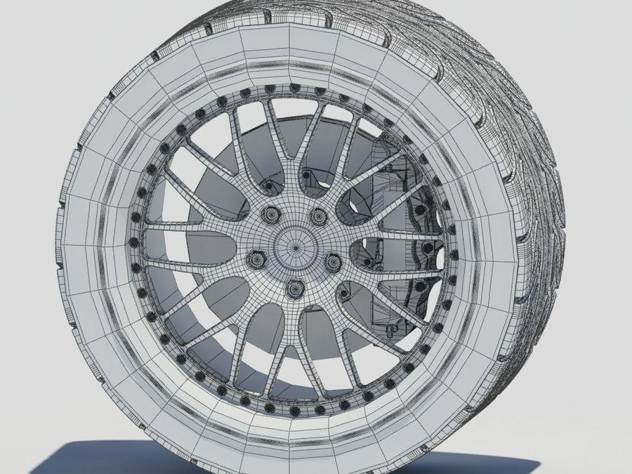 Wheel HRE Yokohama tire Brembo brakes royalty-free 3d model - Preview no. 18