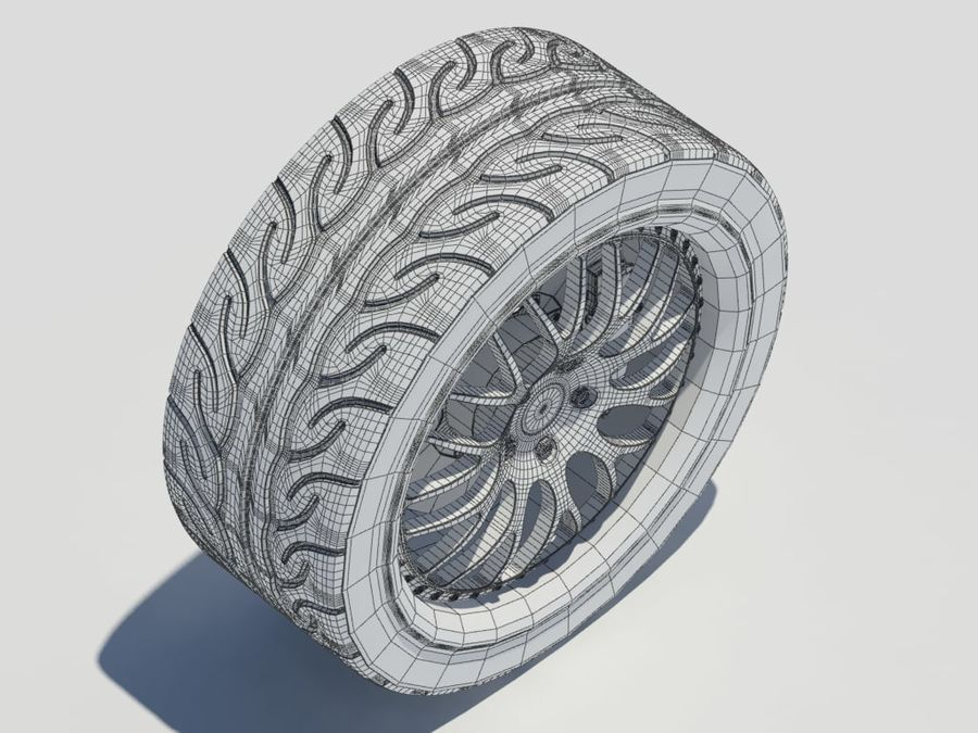 Wheel HRE Yokohama tire Brembo brakes royalty-free 3d model - Preview no. 19