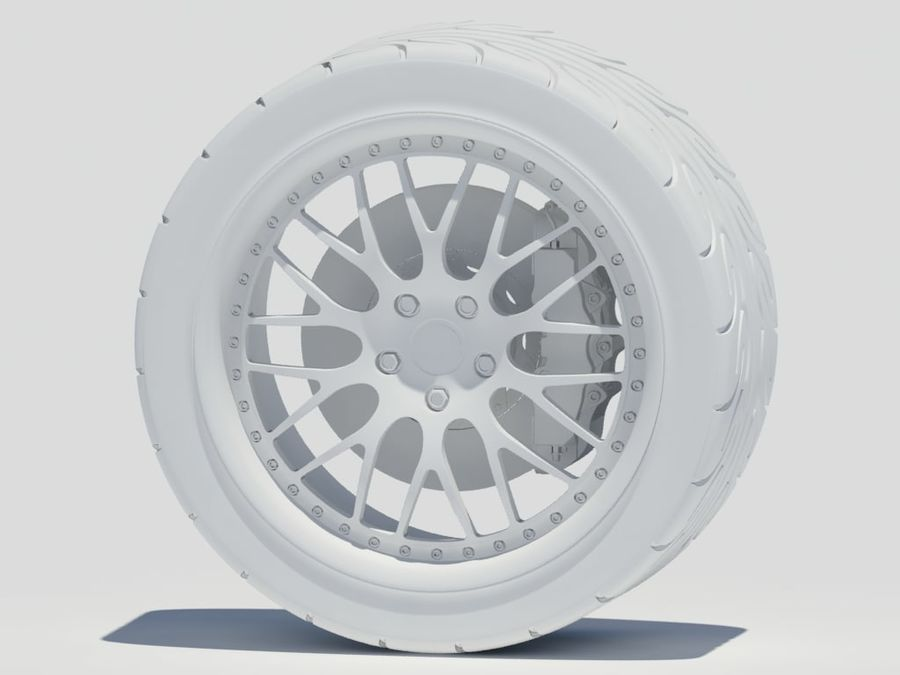 Wheel HRE Yokohama tire Brembo brakes royalty-free 3d model - Preview no. 15