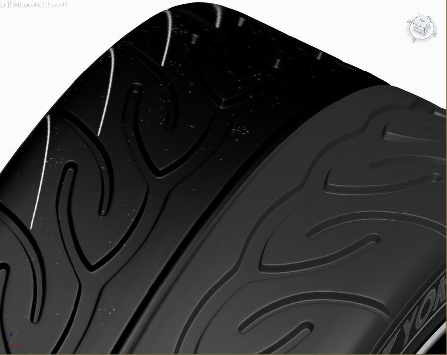Wheel HRE Yokohama tire Brembo brakes royalty-free 3d model - Preview no. 13