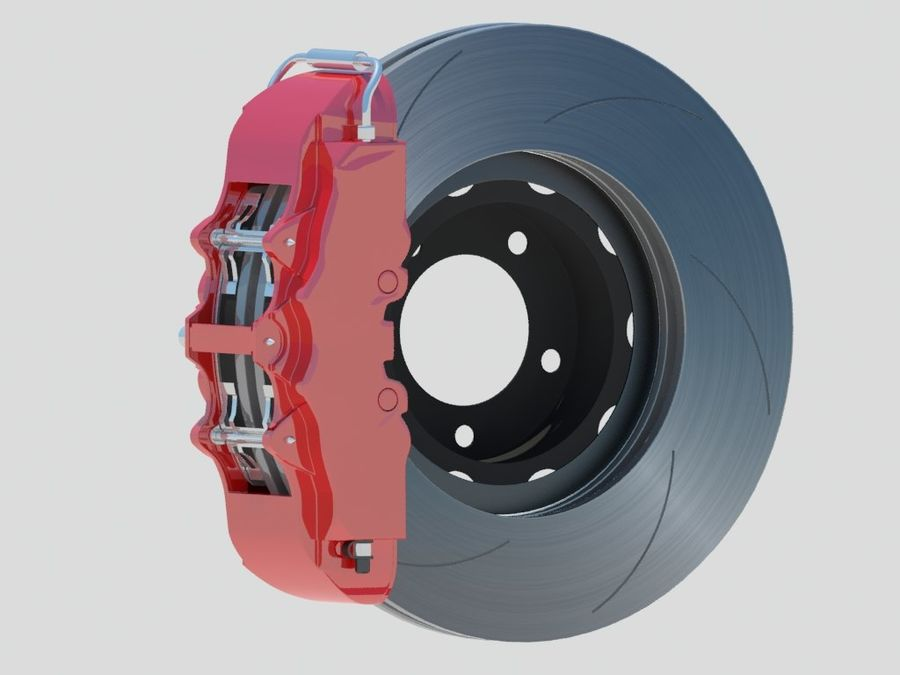 Wheel HRE Yokohama tire Brembo brakes royalty-free 3d model - Preview no. 11