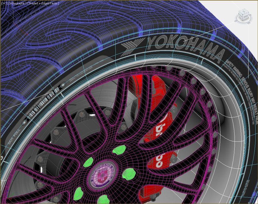 Wheel HRE Yokohama tire Brembo brakes royalty-free 3d model - Preview no. 2