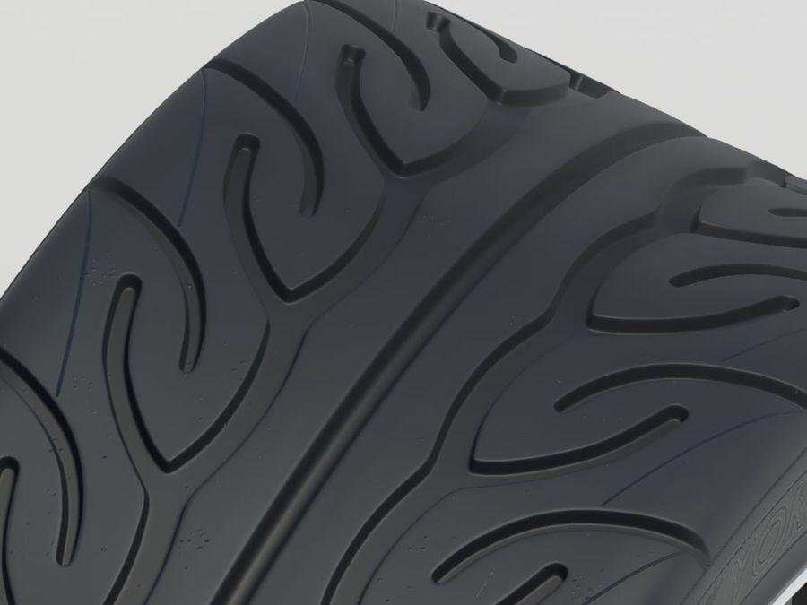 Wheel HRE Yokohama tire Brembo brakes royalty-free 3d model - Preview no. 14
