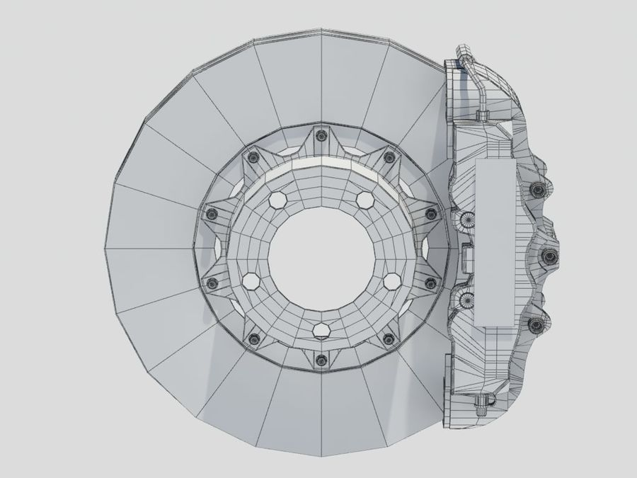 Brembo Brakes royalty-free 3d model - Preview no. 7