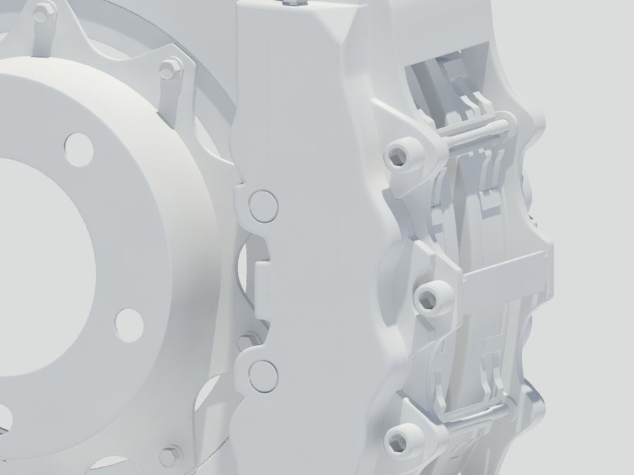 Brembo Brakes royalty-free 3d model - Preview no. 5
