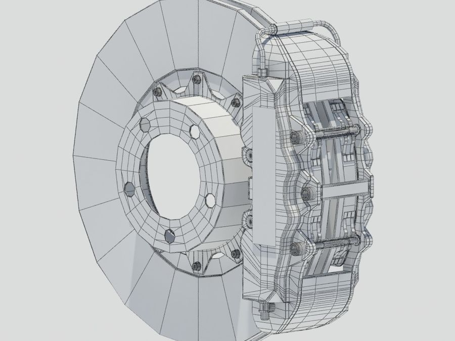 Brembo Brakes royalty-free 3d model - Preview no. 6
