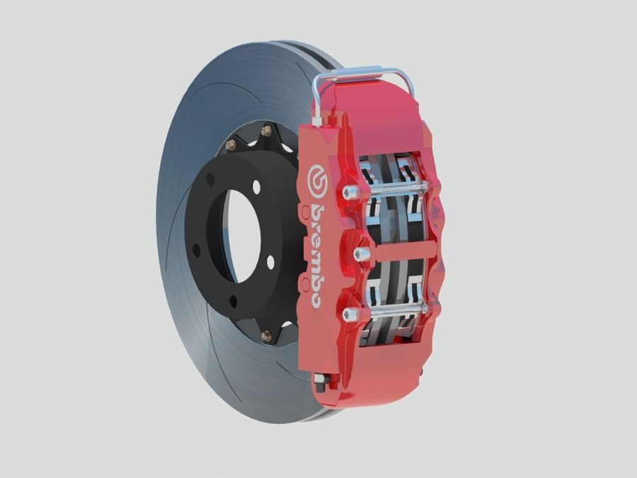 Brembo Brakes royalty-free 3d model - Preview no. 2