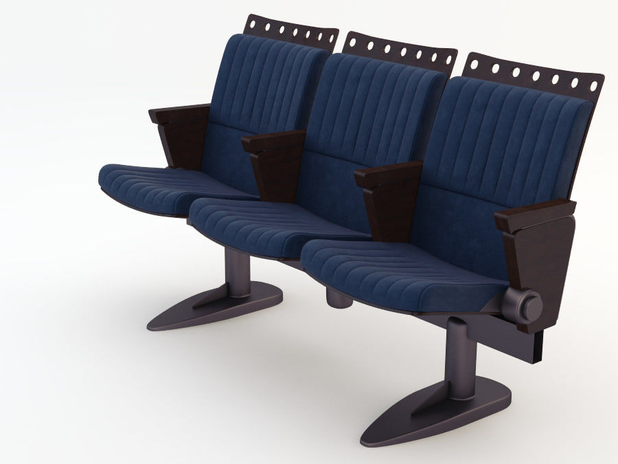 chair cinema royalty-free 3d model - Preview no. 3