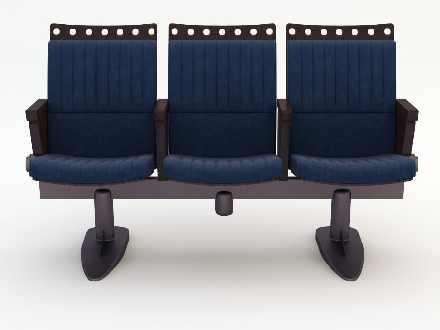 chair cinema royalty-free 3d model - Preview no. 2