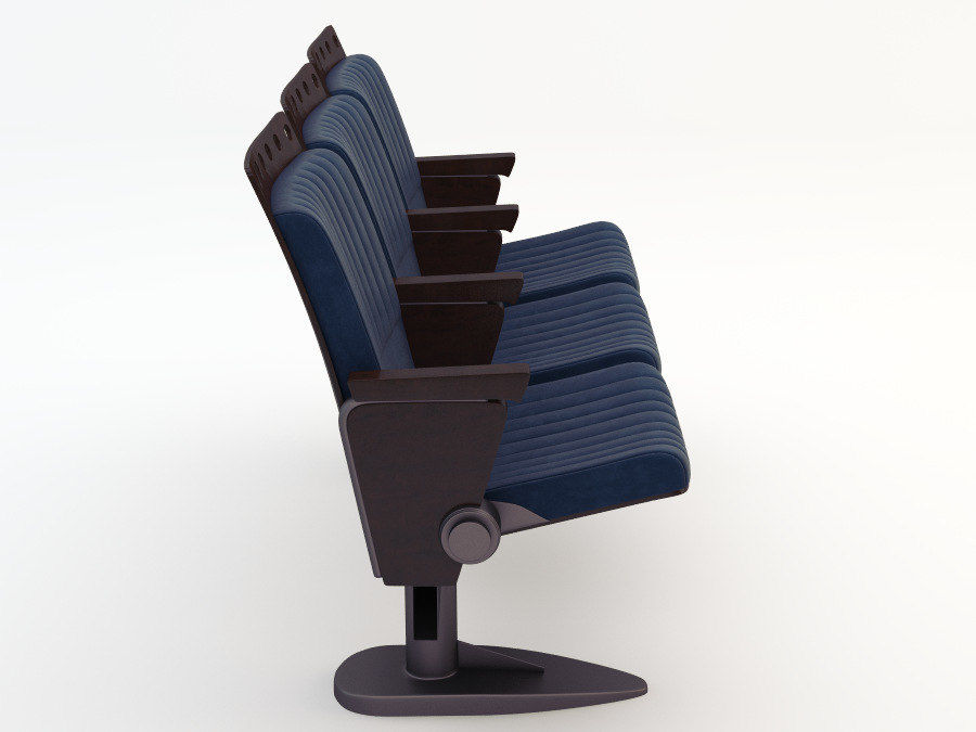 chair cinema royalty-free 3d model - Preview no. 8