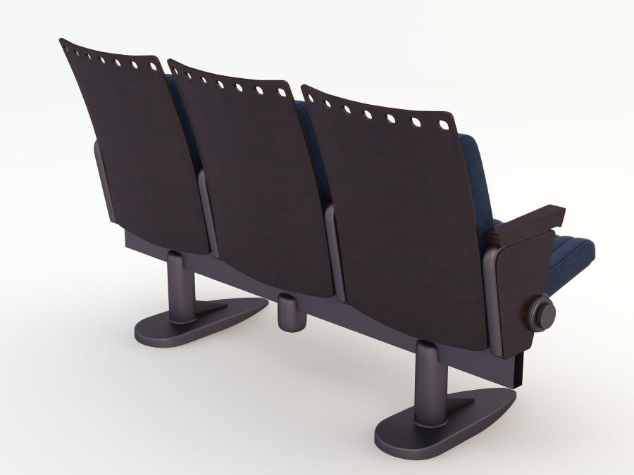 chair cinema royalty-free 3d model - Preview no. 7