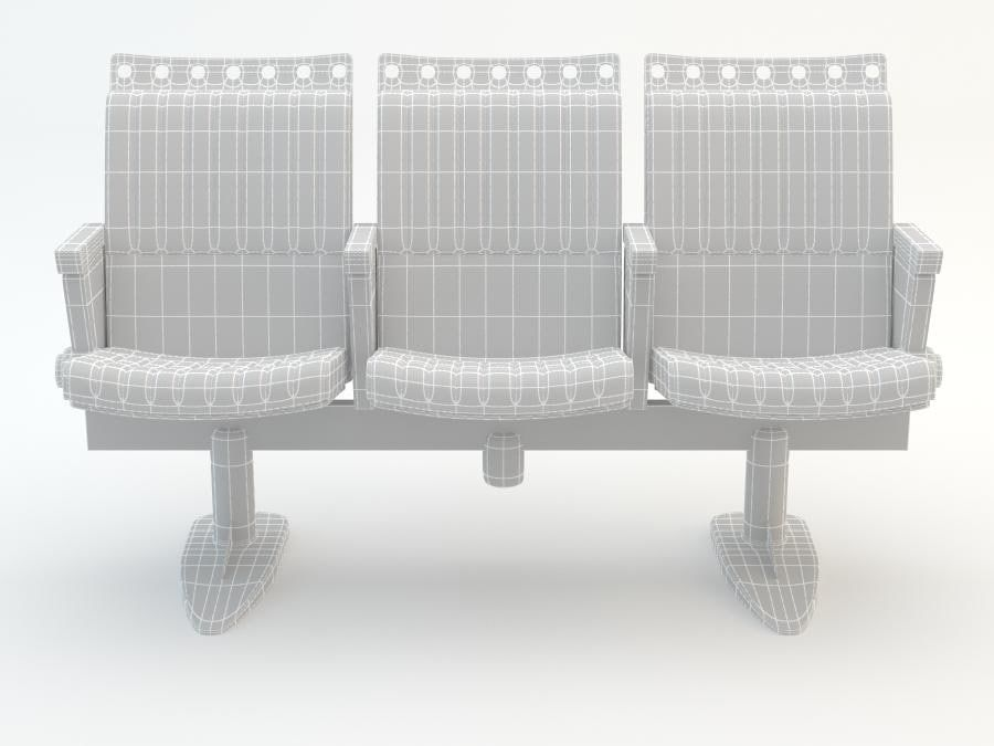chair cinema royalty-free 3d model - Preview no. 10