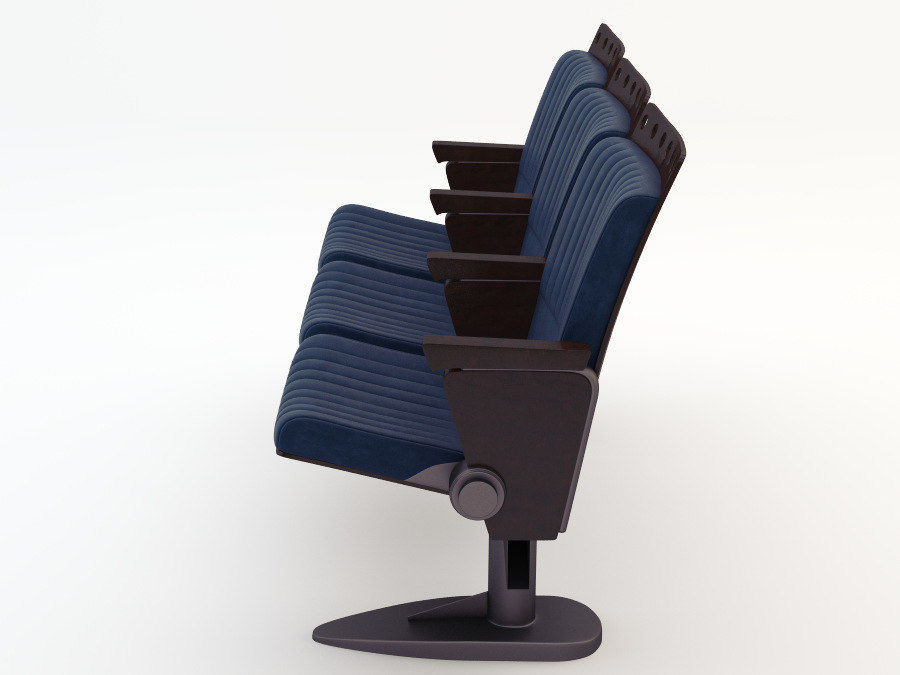 chair cinema royalty-free 3d model - Preview no. 4