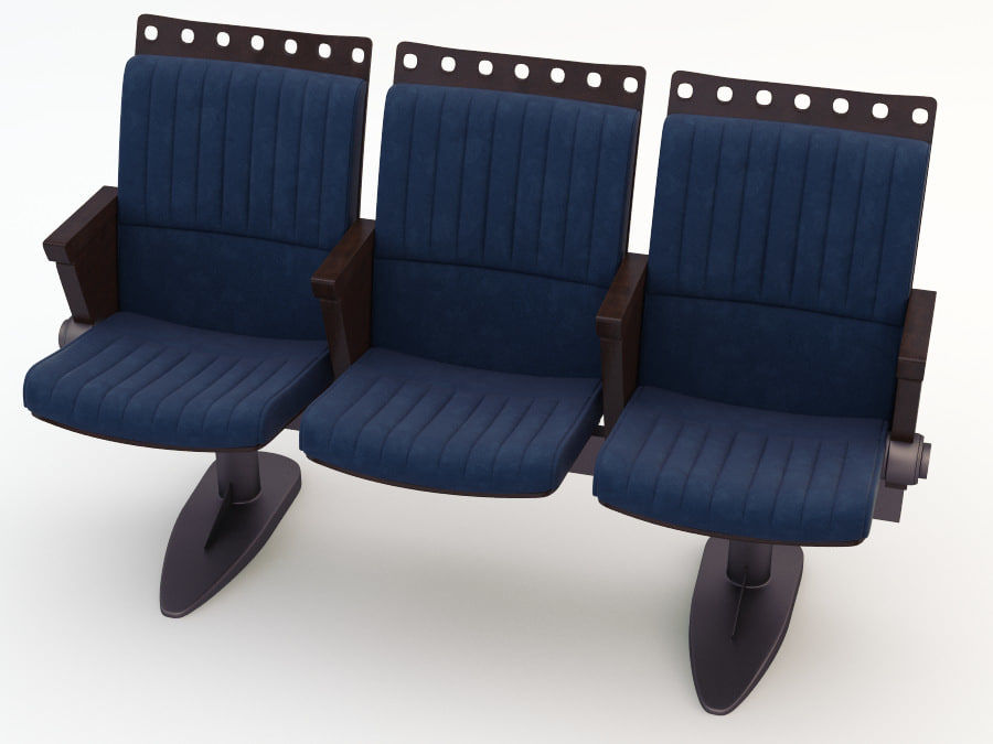 chair cinema royalty-free 3d model - Preview no. 1