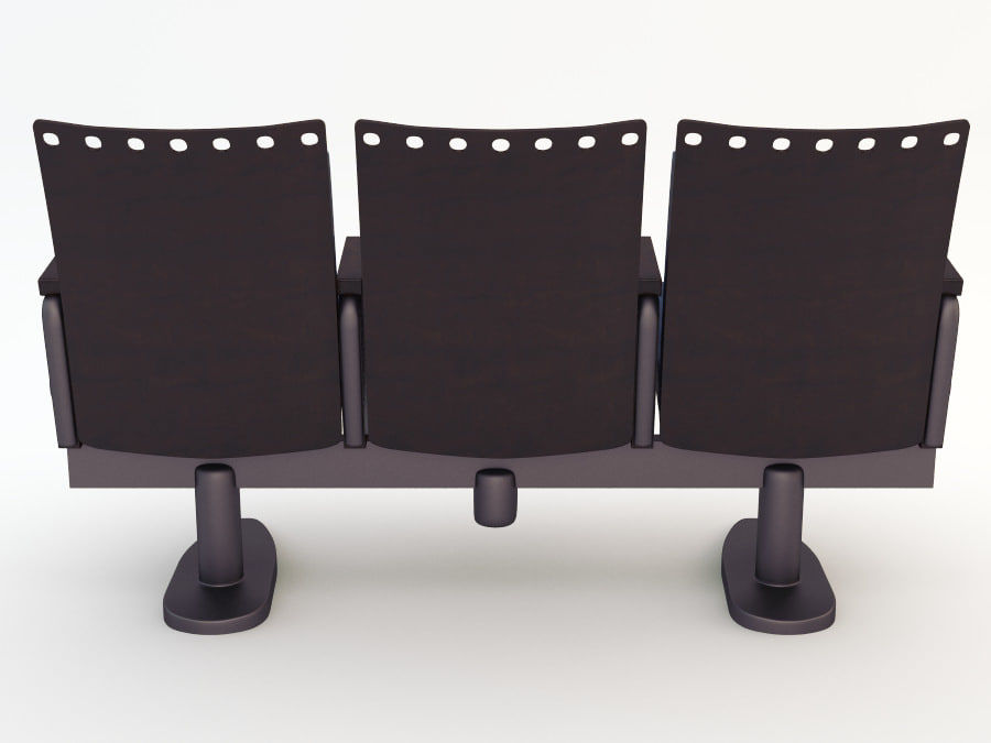 chair cinema royalty-free 3d model - Preview no. 6