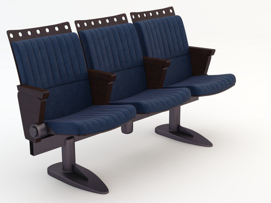 chair cinema royalty-free 3d model - Preview no. 9