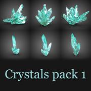 6 Kristaller 3d model