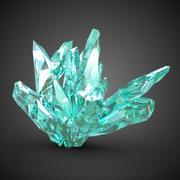 6 kryształów 3d model